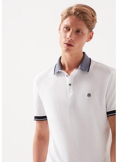 Mavi Erkek  Polo Tişört 066153-620 Beyaz